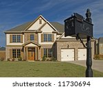 Luxury Home With Black Mail Box