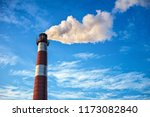 air pollution in the city.... | Shutterstock . vector #1173082840