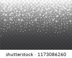 realistic falling snow on a... | Shutterstock .eps vector #1173086260