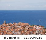 view of town piran in slovenian ... | Shutterstock . vector #1173090253