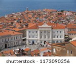 view of town piran in slovenian ... | Shutterstock . vector #1173090256