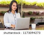 singaporean young business... | Shutterstock . vector #1173094273