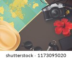 top view on travel and tourism...   Shutterstock .eps vector #1173095020
