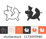 bank black linear and... | Shutterstock .eps vector #1173095980