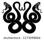 two black snakes sign on white... | Shutterstock .eps vector #1173098866