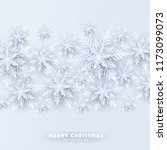 origami snowfall. merry... | Shutterstock .eps vector #1173099073