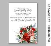 marsala dark red peony wedding... | Shutterstock .eps vector #1173099139