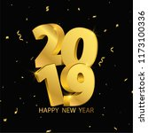 happy new year 2019 background. ... | Shutterstock .eps vector #1173100336