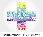 public health word cloud ... | Shutterstock . vector #1173101590