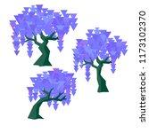 vector geometric wisteria set... | Shutterstock .eps vector #1173102370
