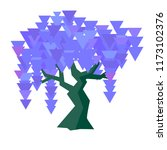 vector geometric wisteria set... | Shutterstock .eps vector #1173102376