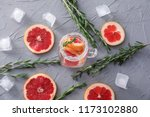 fresh grapefruit cocktail with... | Shutterstock . vector #1173102880