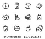 set of black vector icons ... | Shutterstock .eps vector #1173103156