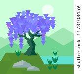 vector geometric wisteria set... | Shutterstock .eps vector #1173103459