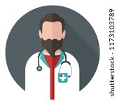 vector medical icon doctor. the ... | Shutterstock .eps vector #1173103789
