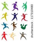 human figures in action in... | Shutterstock .eps vector #117310480