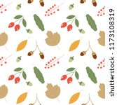 seamless pattern with acorns... | Shutterstock .eps vector #1173108319