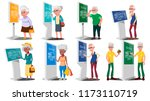 old people using atm  digital... | Shutterstock .eps vector #1173110719