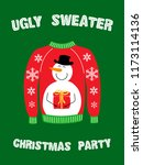 cute banner for ugly sweater... | Shutterstock . vector #1173114136