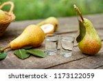fresh pears with peers brandy... | Shutterstock . vector #1173122059