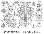 design set with gothic abstract ... | Shutterstock .eps vector #1173125113