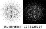 design set with cosmic circle... | Shutterstock .eps vector #1173125119