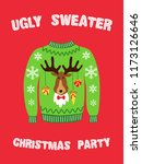 cute banner for ugly sweater... | Shutterstock .eps vector #1173126646