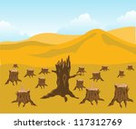 the chopped down wood and... | Shutterstock .eps vector #117312769