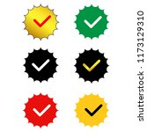 approved sertified mark.quality ... | Shutterstock .eps vector #1173129310