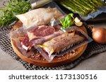 duck breast  chicken breast and ... | Shutterstock . vector #1173130516