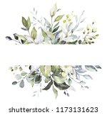 botanical design. horizontal... | Shutterstock . vector #1173131623