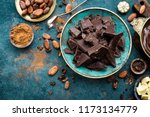 chocolate. dark bitter... | Shutterstock . vector #1173134779