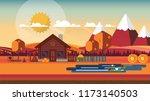 flat illustration of... | Shutterstock .eps vector #1173140503