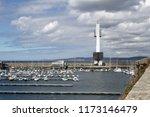 the piers of la coru a marina... | Shutterstock . vector #1173146479