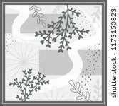 monochrome abstract scarf... | Shutterstock .eps vector #1173150823
