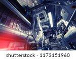 industrial steel pipelines ... | Shutterstock . vector #1173151960