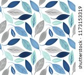 seamless pattern with leaf ... | Shutterstock .eps vector #1173153319