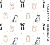 seamless pattern with cute... | Shutterstock .eps vector #1173154993