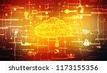 2d rendering cloud computing ... | Shutterstock . vector #1173155356
