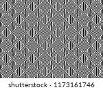 seamless pattern with striped... | Shutterstock .eps vector #1173161746