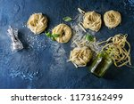 variety of italian homemade raw ...   Shutterstock . vector #1173162499