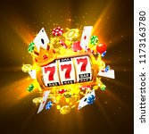 king slots 777 banner casino on ... | Shutterstock .eps vector #1173163780