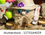 flea market   folk crafts.... | Shutterstock . vector #1173164029