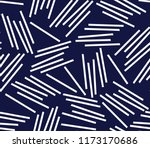 Stripe Pattern On Navy...