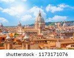 roman house and basilica dei... | Shutterstock . vector #1173171076