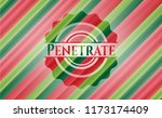 penetrate christmas badge... | Shutterstock .eps vector #1173174409