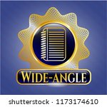 gold shiny emblem with note... | Shutterstock .eps vector #1173174610