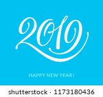 2019 text. seasons greetings.... | Shutterstock .eps vector #1173180436