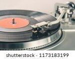 black vinyl record. vinyl... | Shutterstock . vector #1173183199
