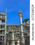 petrochemical plant  with blue... | Shutterstock . vector #117318529